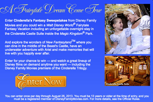 Cinderells Fantasy Sweepstakes
